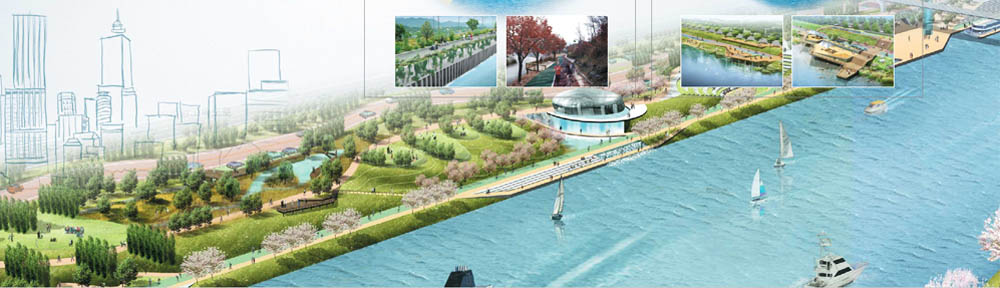 Artist's impression of the completed waterway