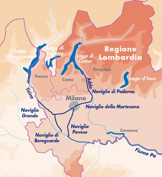The Lombardy canal system
