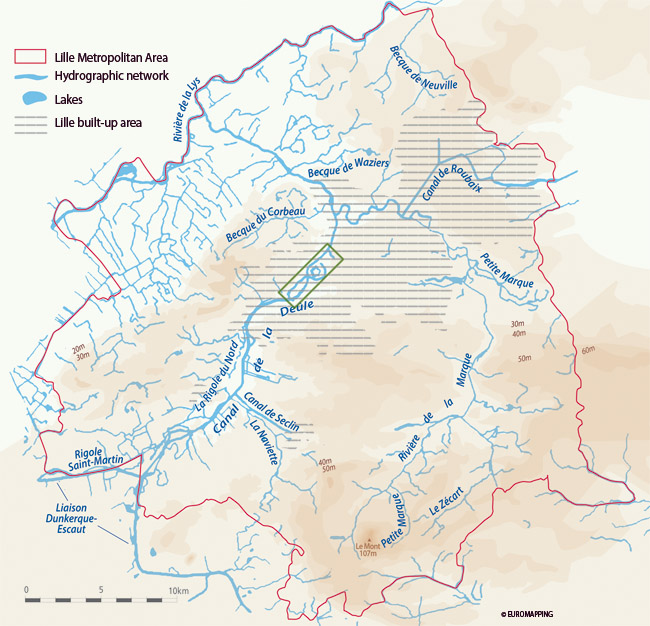 Lille and the Deûle/Marque river basin