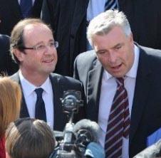 President Hollande-Transport Minister Cuvillier